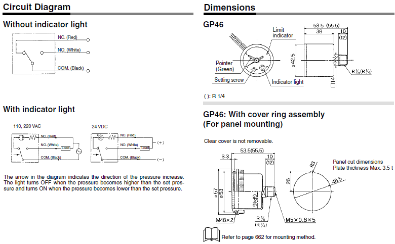 gp46系列 带开关的压力表